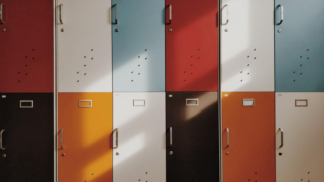 Lockers in een school